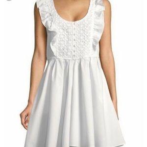 Free People white ruffle dress
